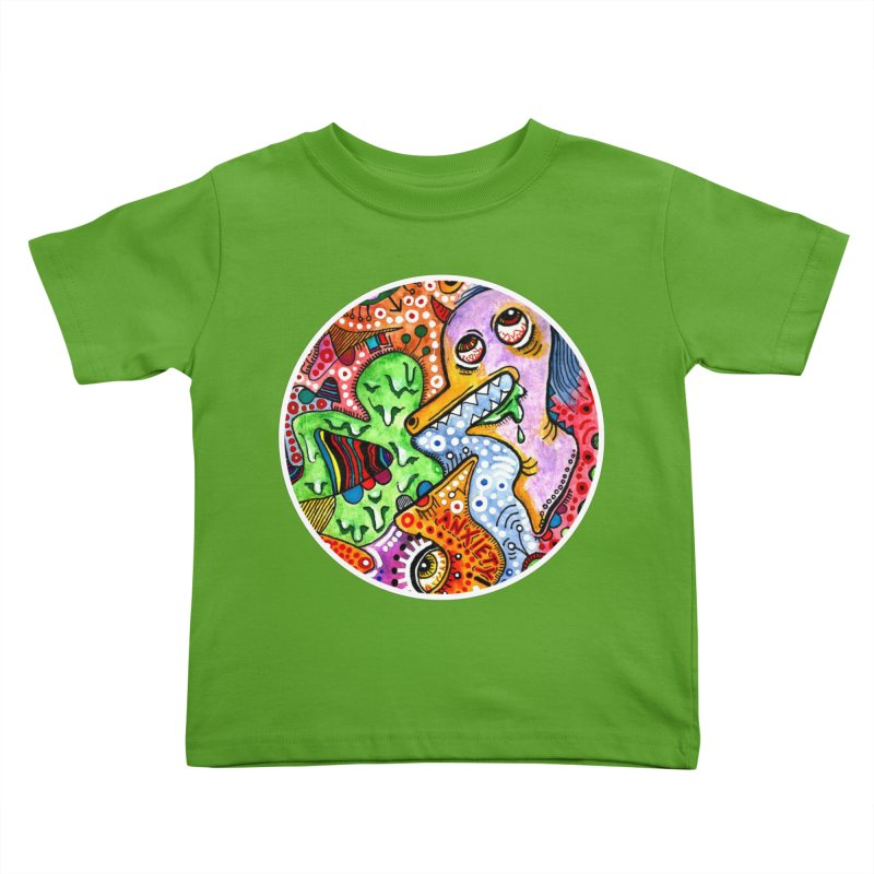 """""""anxiety"""" redesign Kids Toddler T-Shirt by J. Lavallee's Artist Shop"""