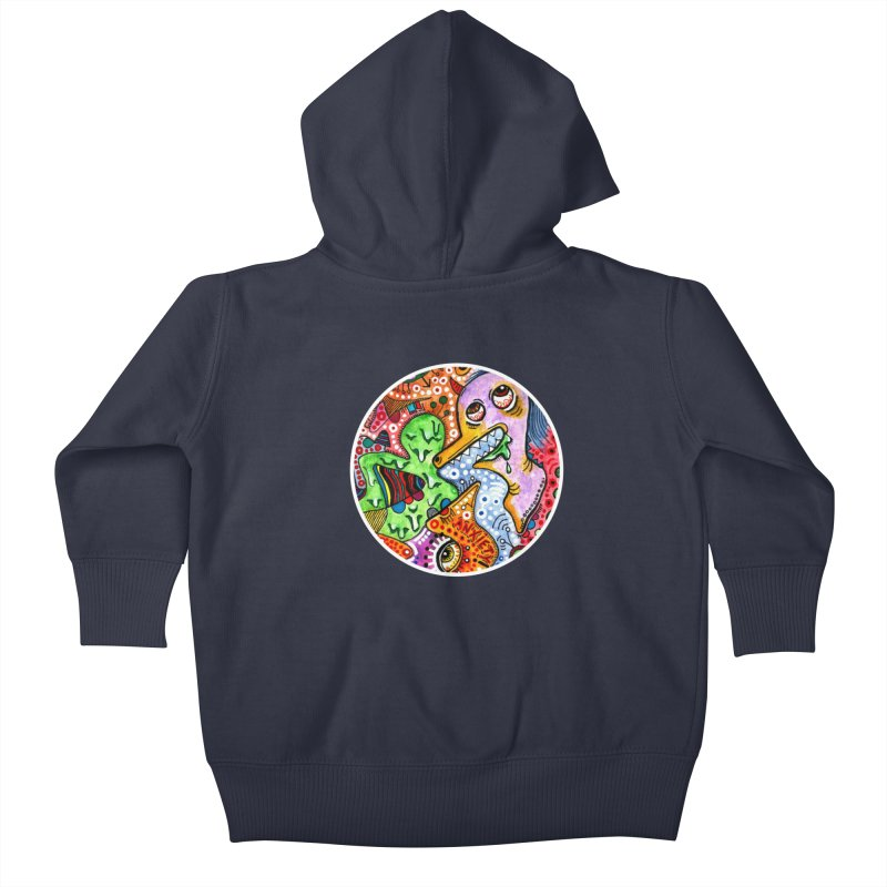 """anxiety"" redesign Kids Baby Zip-Up Hoody by J. Lavallee's Artist Shop"