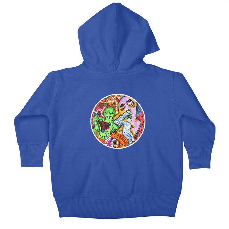 """""""anxiety"""" redesign Kids Baby Zip-Up Hoody by J. Lavallee's Artist Shop"""