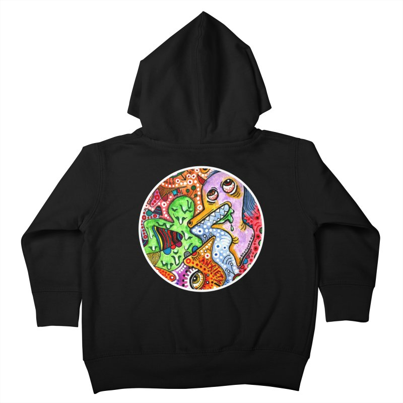 """anxiety"" redesign Kids Toddler Zip-Up Hoody by J. Lavallee's Artist Shop"