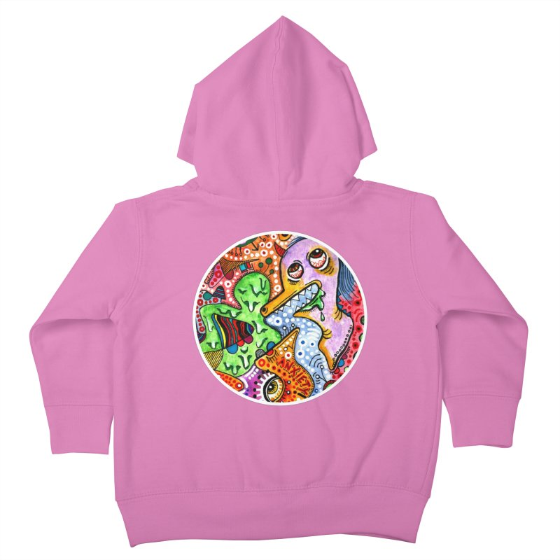"""""""anxiety"""" redesign Kids Toddler Zip-Up Hoody by J. Lavallee's Artist Shop"""