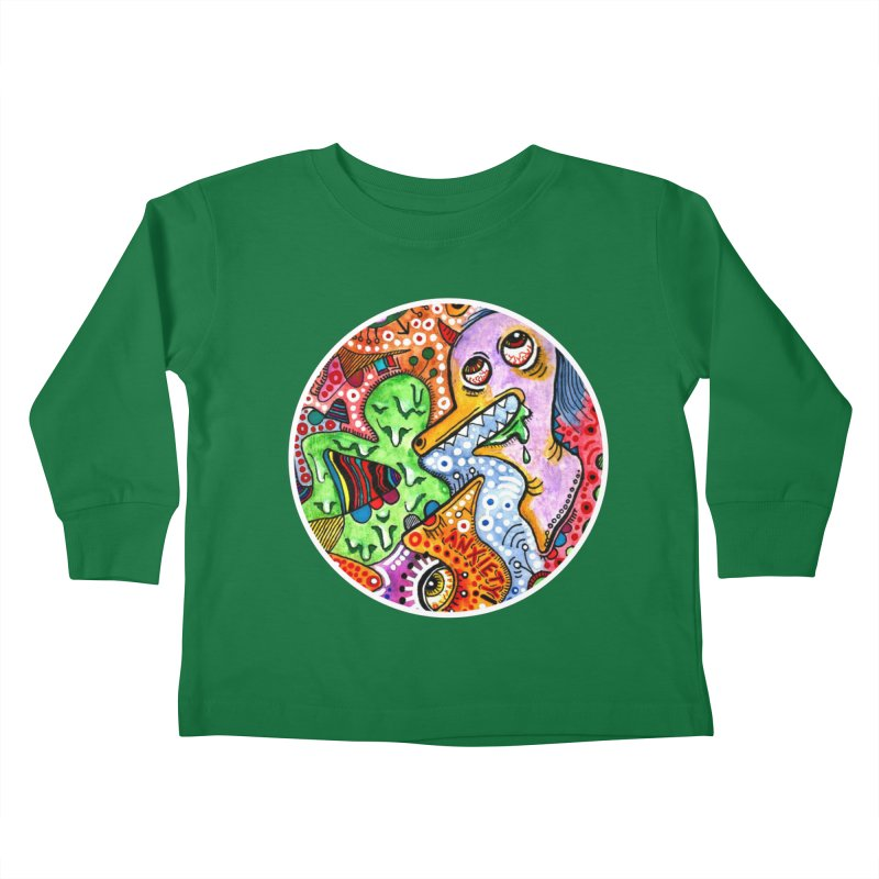 """anxiety"" redesign Kids Toddler Longsleeve T-Shirt by J. Lavallee's Artist Shop"
