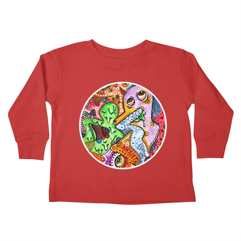 """""""anxiety"""" redesign Kids Toddler Longsleeve T-Shirt by J. Lavallee's Artist Shop"""