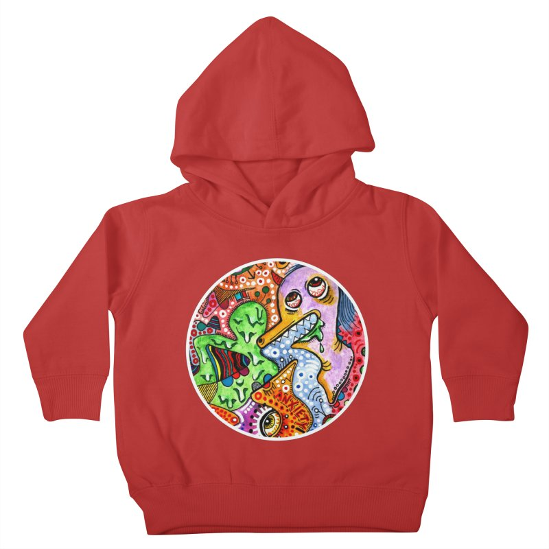 """""""anxiety"""" redesign Kids Toddler Pullover Hoody by J. Lavallee's Artist Shop"""