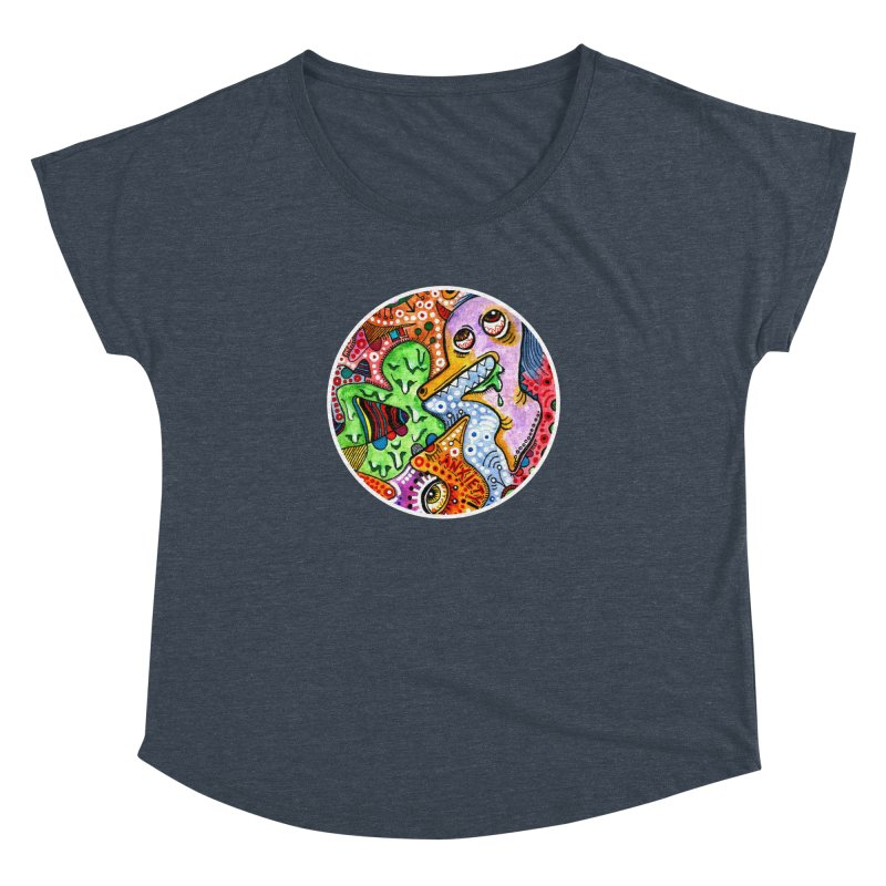 """anxiety"" redesign Women's Dolman Scoop Neck by J. Lavallee's Artist Shop"