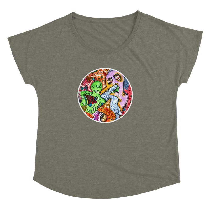 """""""anxiety"""" redesign Women's Dolman Scoop Neck by J. Lavallee's Artist Shop"""