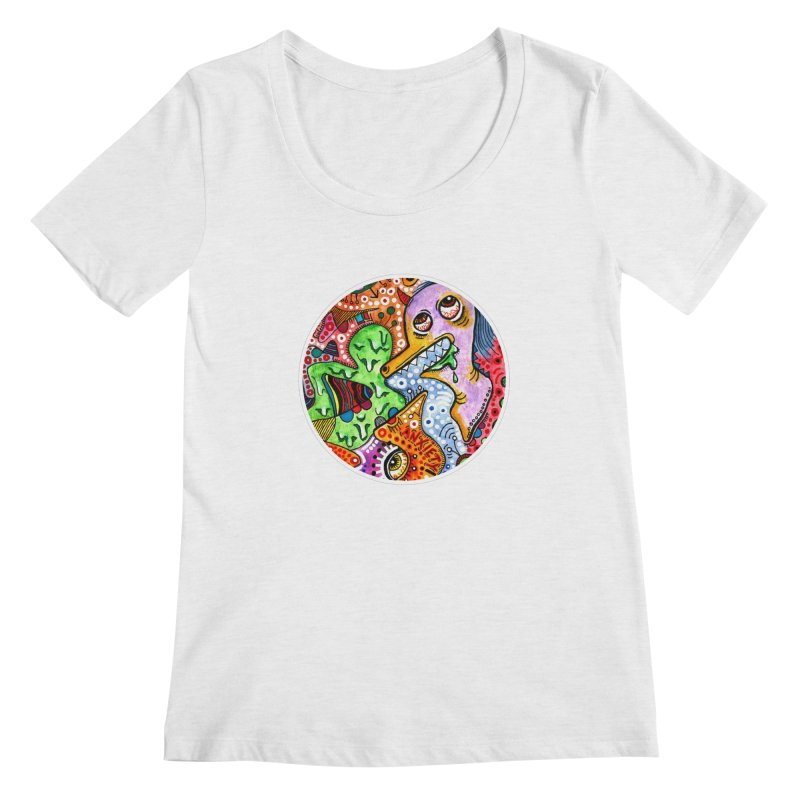 """anxiety"" redesign Women's Regular Scoop Neck by J. Lavallee's Artist Shop"