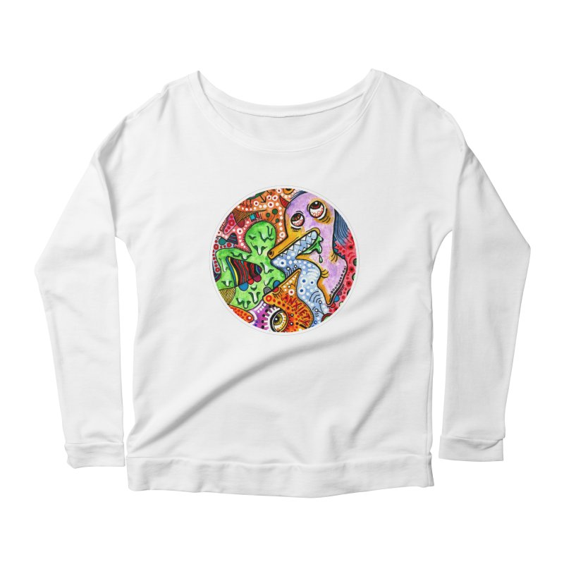 """""""anxiety"""" redesign Women's Scoop Neck Longsleeve T-Shirt by J. Lavallee's Artist Shop"""