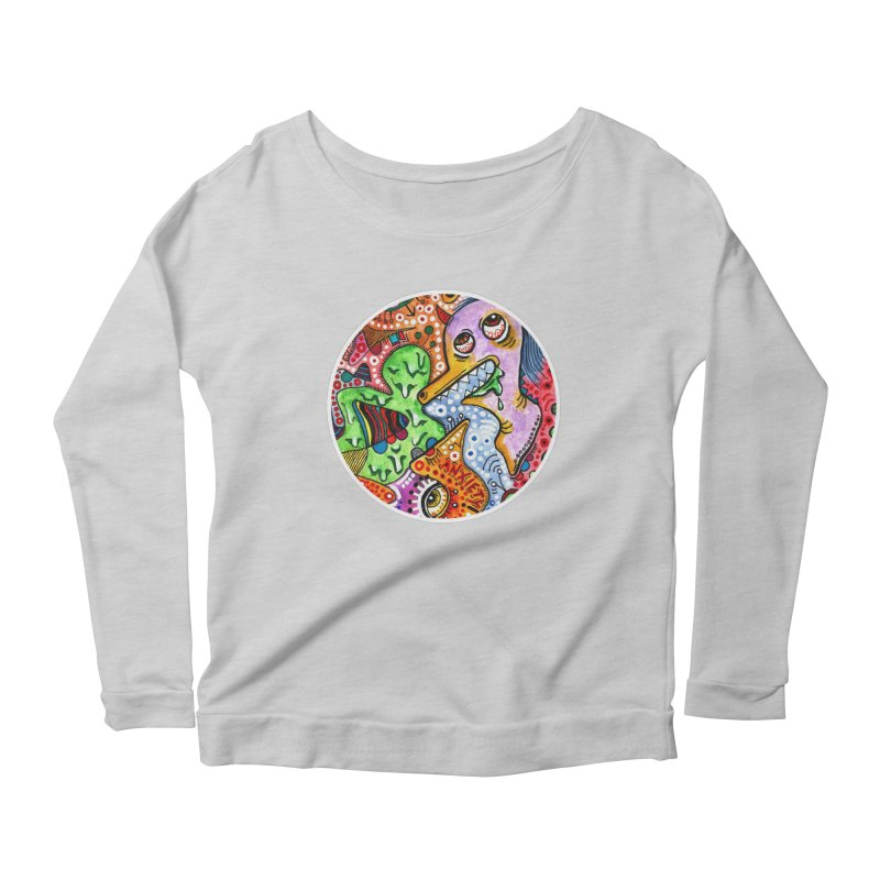 """anxiety"" redesign Women's Scoop Neck Longsleeve T-Shirt by J. Lavallee's Artist Shop"