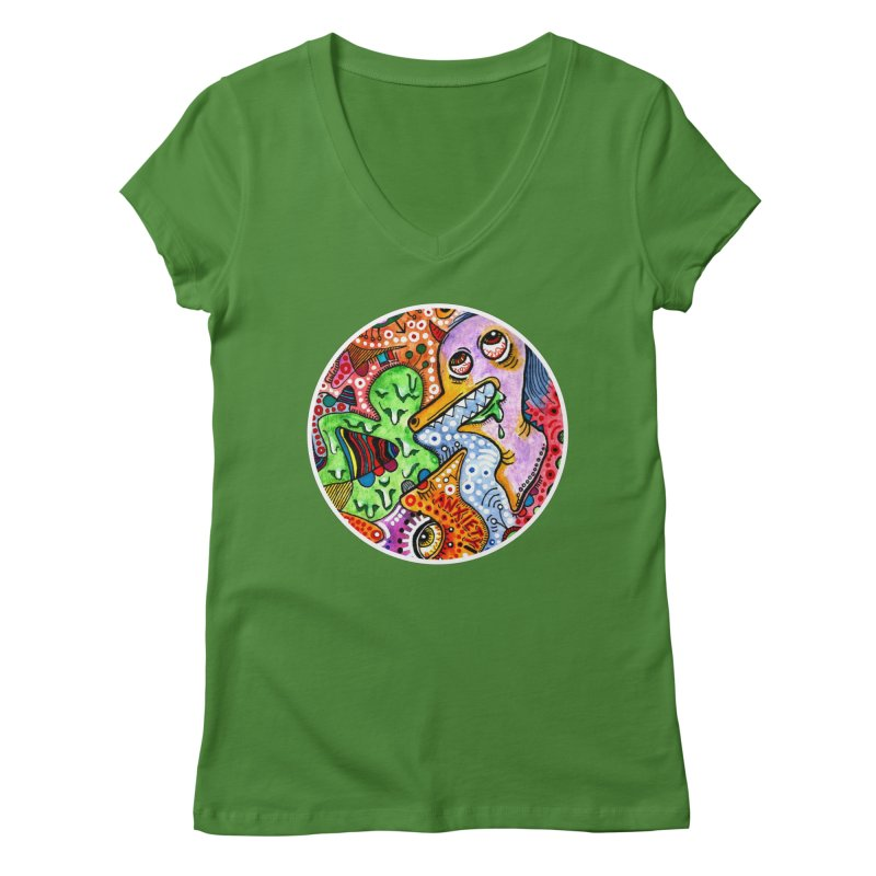"""""""anxiety"""" redesign Women's Regular V-Neck by J. Lavallee's Artist Shop"""