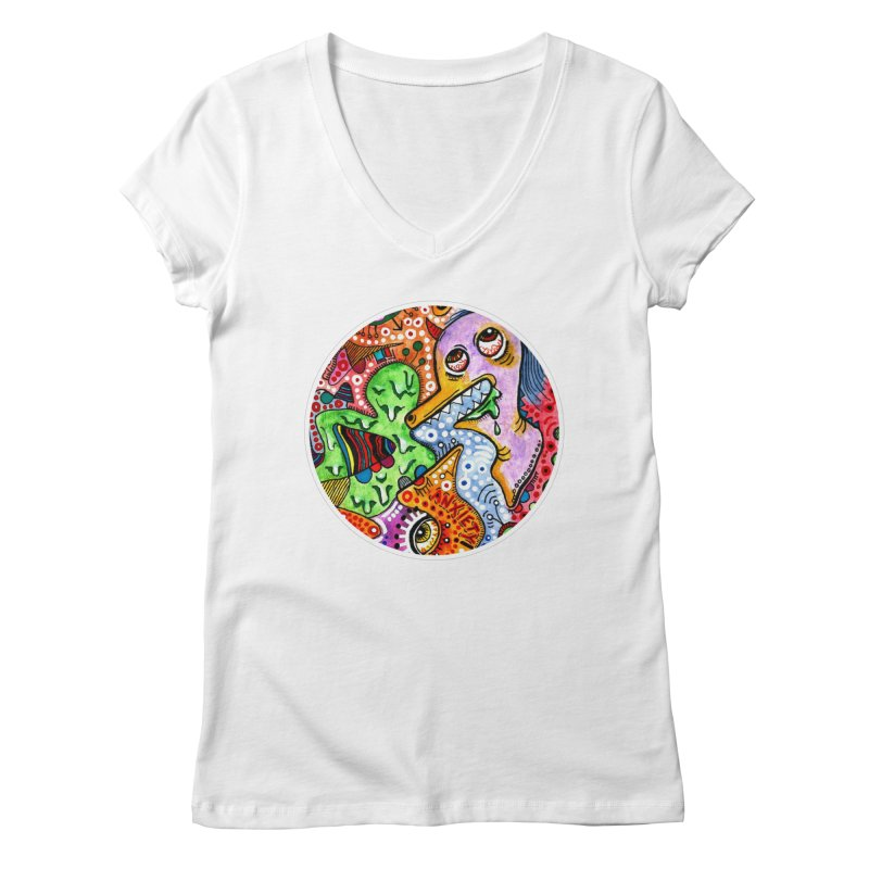 """anxiety"" redesign Women's Regular V-Neck by J. Lavallee's Artist Shop"