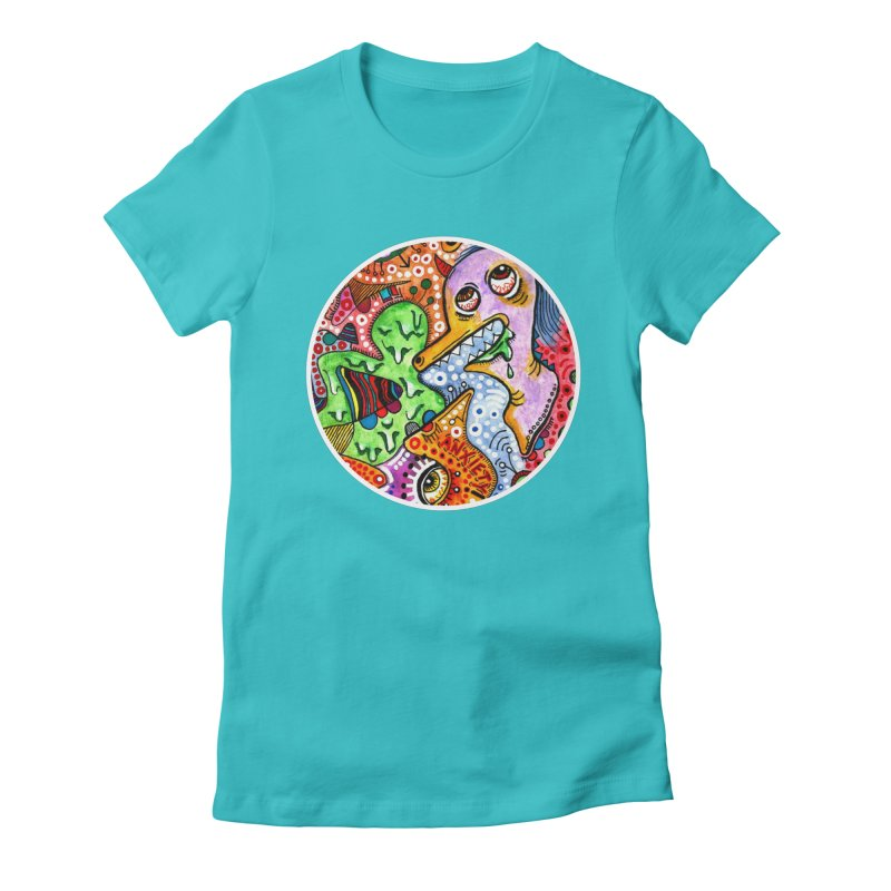 """""""anxiety"""" redesign Women's Fitted T-Shirt by J. Lavallee's Artist Shop"""
