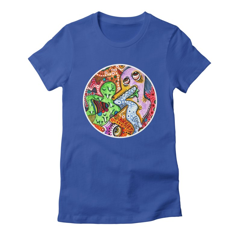 """anxiety"" redesign Women's Fitted T-Shirt by J. Lavallee's Artist Shop"