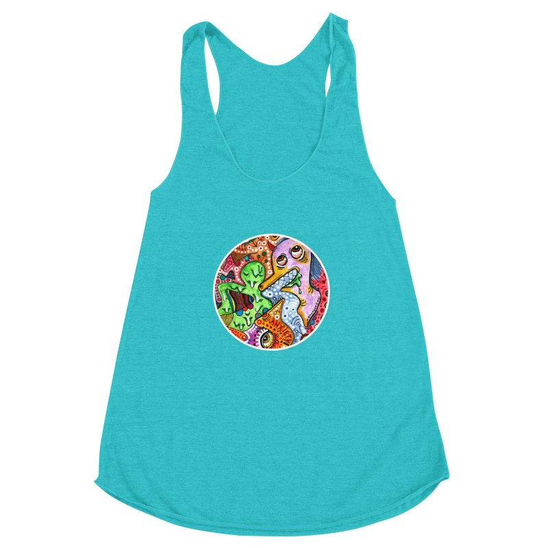 """""""anxiety"""" redesign Women's Racerback Triblend Tank by J. Lavallee's Artist Shop"""