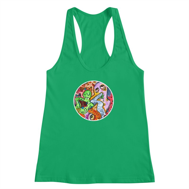 """anxiety"" redesign Women's Racerback Tank by J. Lavallee's Artist Shop"