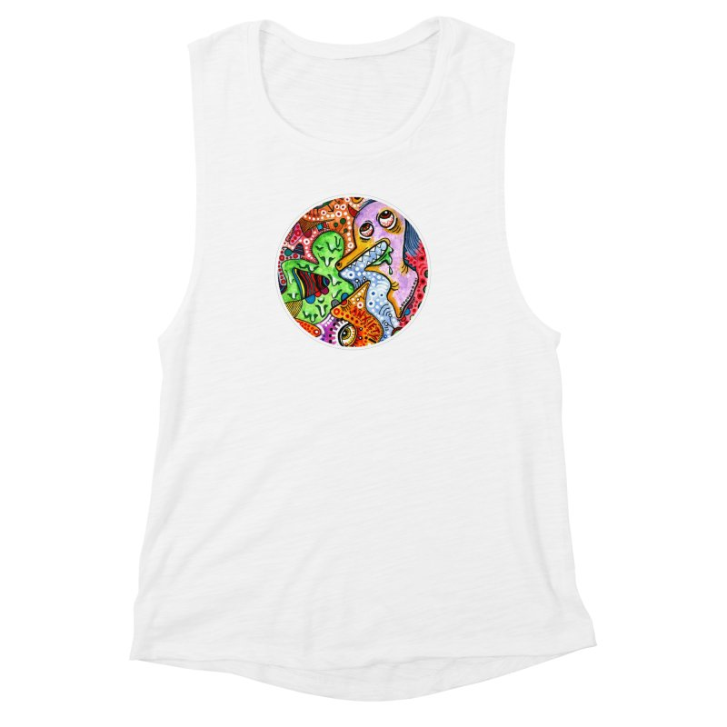 """""""anxiety"""" redesign Women's Muscle Tank by J. Lavallee's Artist Shop"""