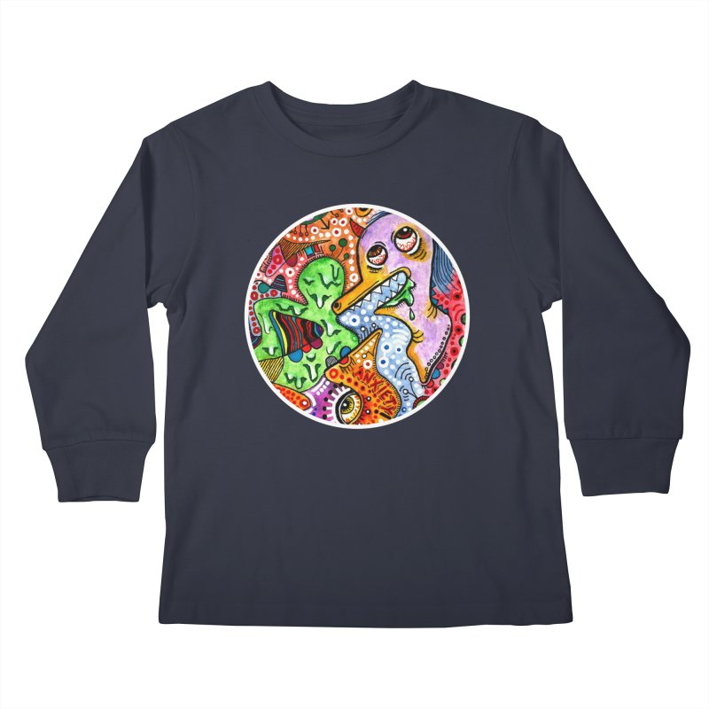 """anxiety"" redesign Kids Longsleeve T-Shirt by J. Lavallee's Artist Shop"