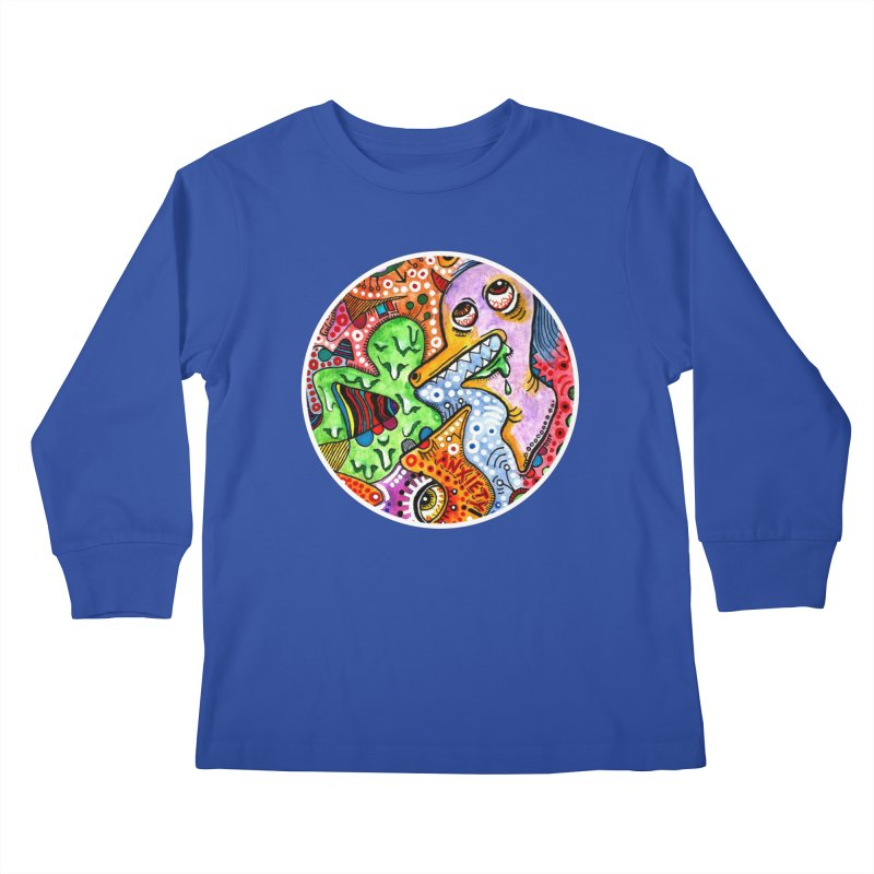 """""""anxiety"""" redesign Kids Longsleeve T-Shirt by J. Lavallee's Artist Shop"""