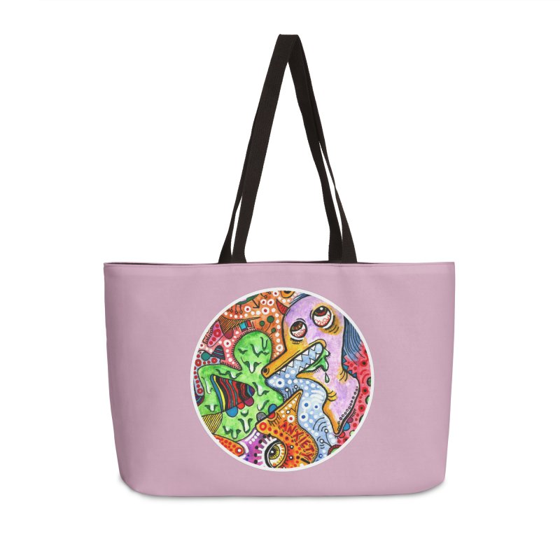 """anxiety"" redesign Accessories Weekender Bag Bag by J. Lavallee's Artist Shop"