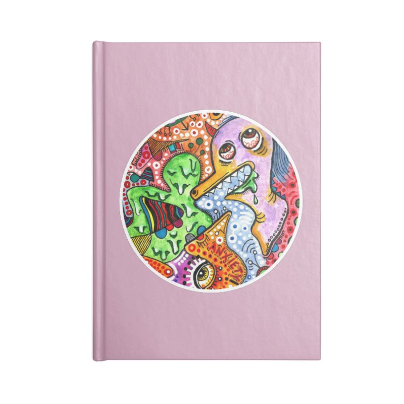 """anxiety"" redesign Accessories Blank Journal Notebook by J. Lavallee's Artist Shop"