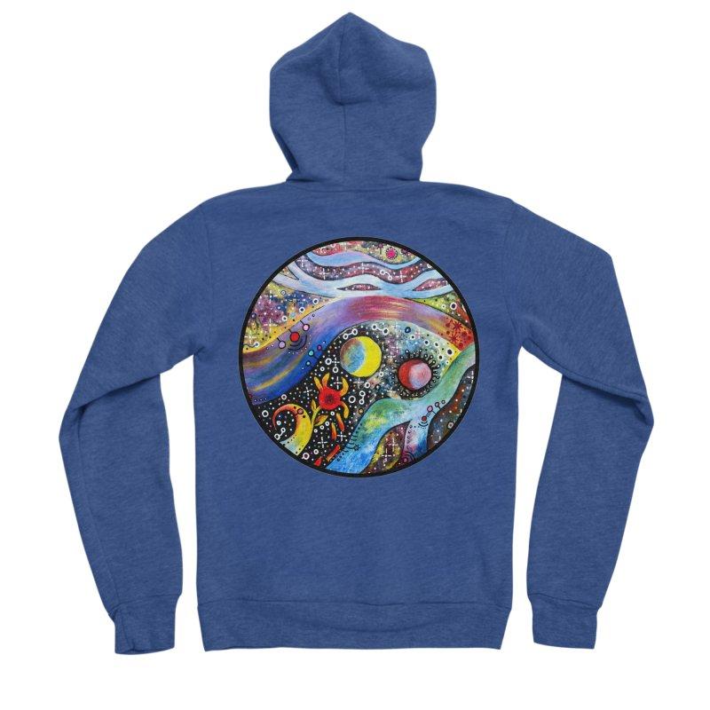 """""""astral"""" redesign Men's Sponge Fleece Zip-Up Hoody by J. Lavallee's Artist Shop"""