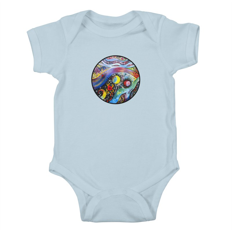 """""""astral"""" redesign Kids Baby Bodysuit by J. Lavallee's Artist Shop"""