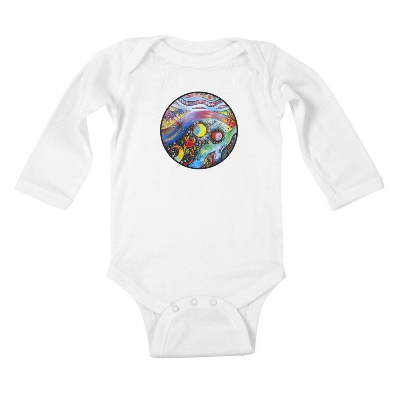 """astral"" redesign Kids Baby Longsleeve Bodysuit by J. Lavallee's Artist Shop"
