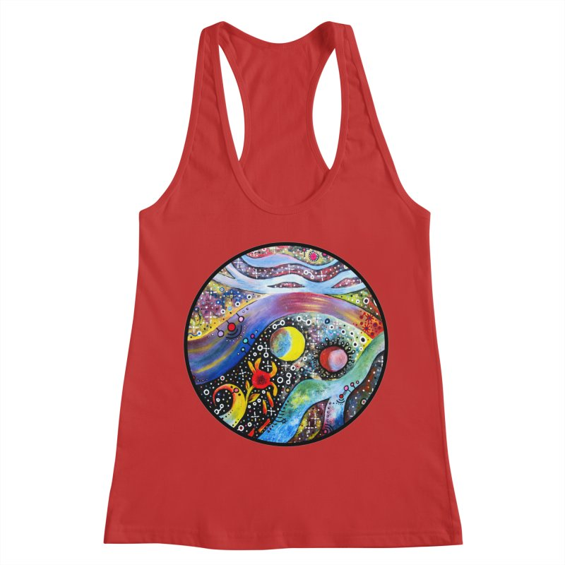 """astral"" redesign Women's Racerback Tank by J. Lavallee's Artist Shop"