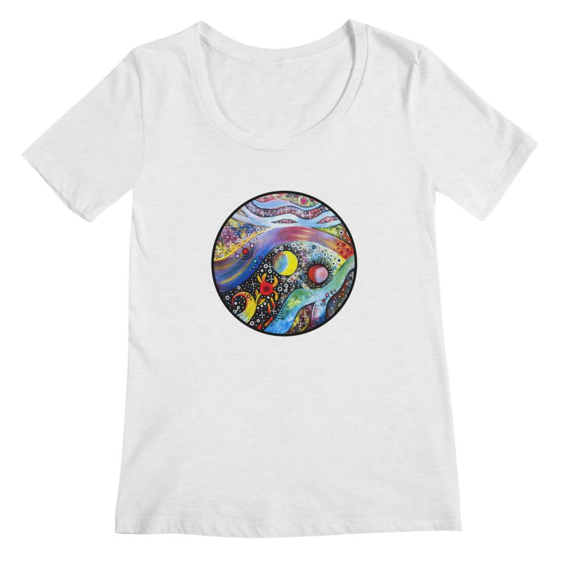 """astral"" redesign Women's Regular Scoop Neck by J. Lavallee's Artist Shop"