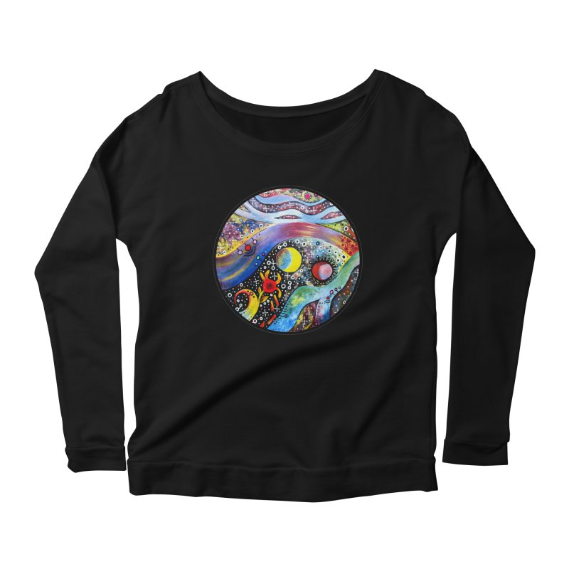 """astral"" redesign Women's Scoop Neck Longsleeve T-Shirt by J. Lavallee's Artist Shop"
