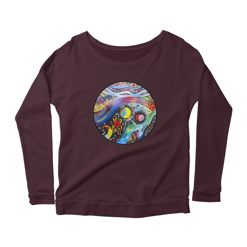 """""""astral"""" redesign Women's Scoop Neck Longsleeve T-Shirt by J. Lavallee's Artist Shop"""