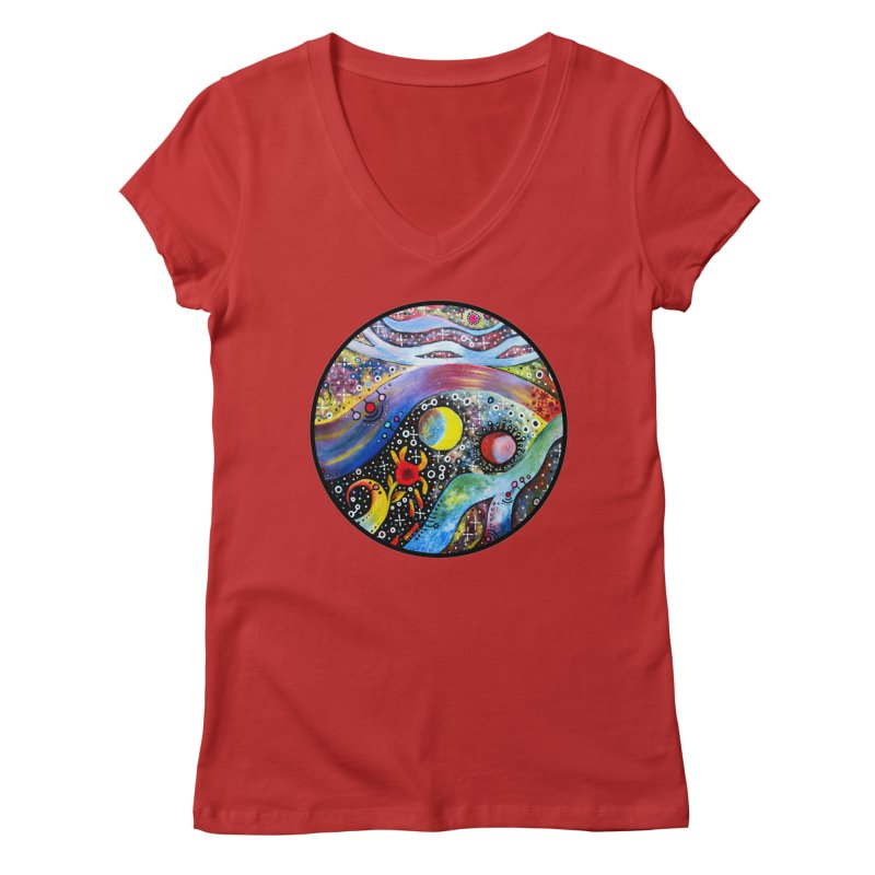 """astral"" redesign Women's Regular V-Neck by J. Lavallee's Artist Shop"
