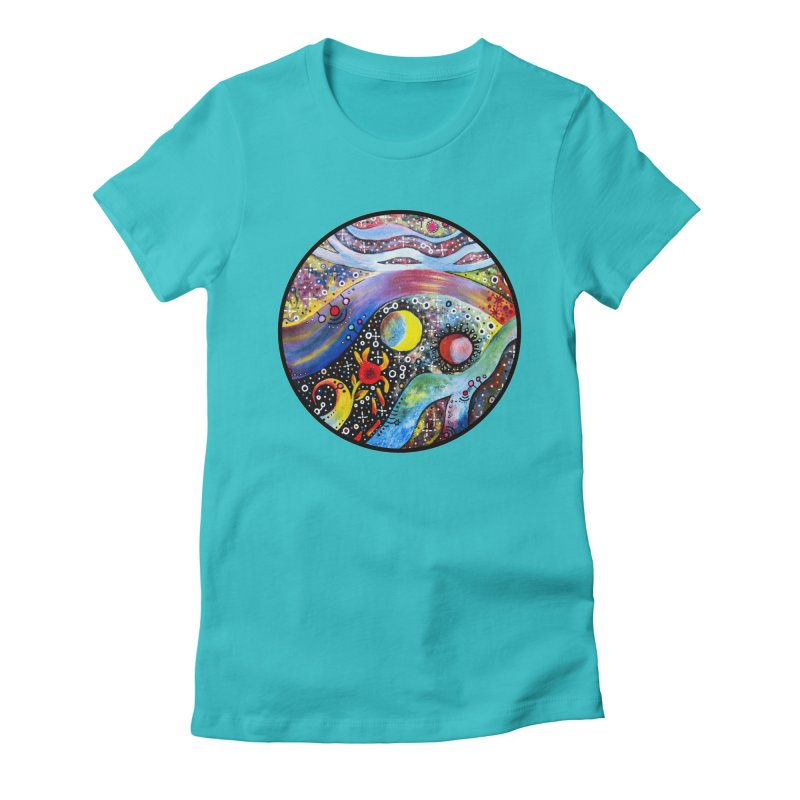 """astral"" redesign Women's Fitted T-Shirt by J. Lavallee's Artist Shop"