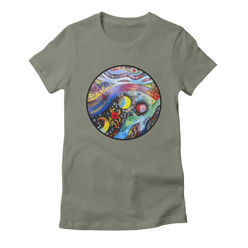 """""""astral"""" redesign Women's Fitted T-Shirt by J. Lavallee's Artist Shop"""