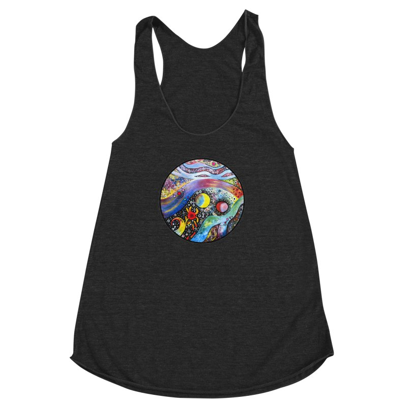 """""""astral"""" redesign Women's Racerback Triblend Tank by J. Lavallee's Artist Shop"""
