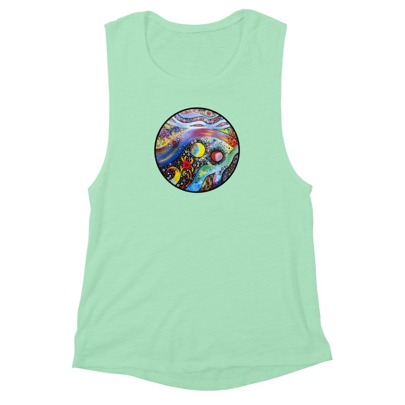 """""""astral"""" redesign Women's Muscle Tank by J. Lavallee's Artist Shop"""