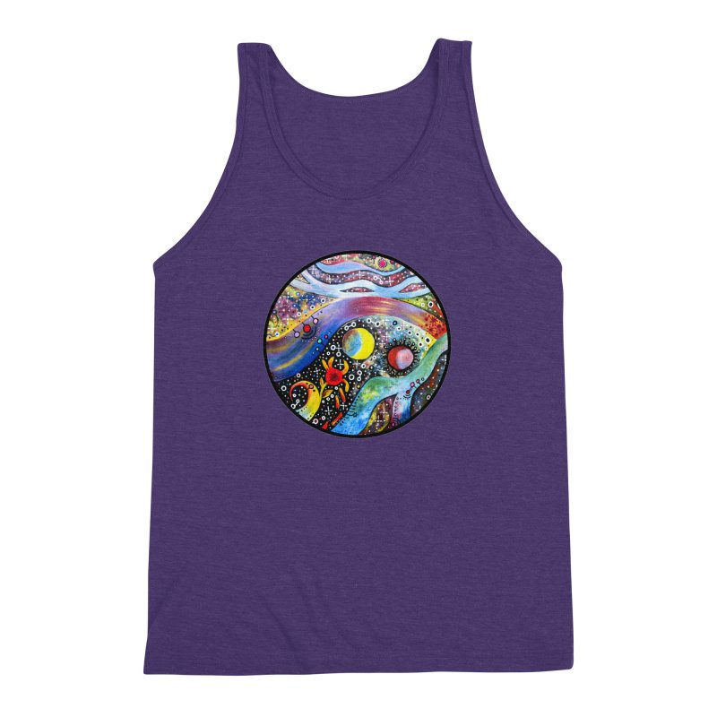 """astral"" redesign Men's Triblend Tank by J. Lavallee's Artist Shop"