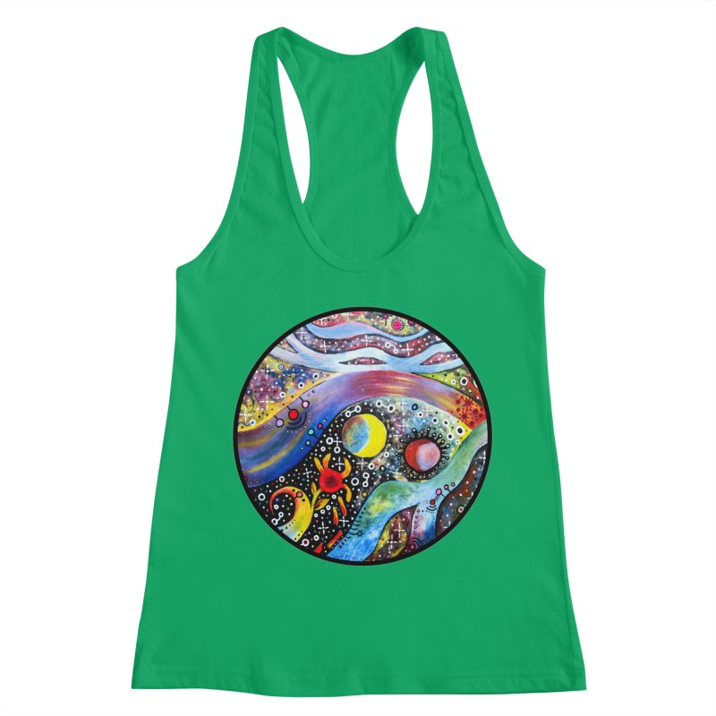 """""""astral"""" redesign Women's Racerback Tank by J. Lavallee's Artist Shop"""