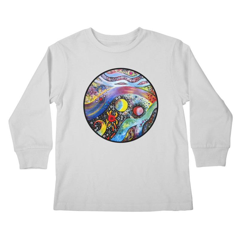 """astral"" redesign Kids Longsleeve T-Shirt by J. Lavallee's Artist Shop"