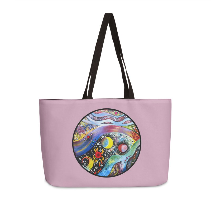 """astral"" redesign Accessories Weekender Bag Bag by J. Lavallee's Artist Shop"