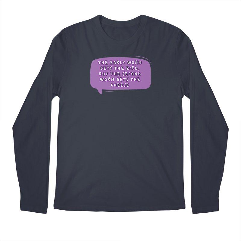 """""""early worm"""" Men's Regular Longsleeve T-Shirt by J. Lavallee's Artist Shop"""