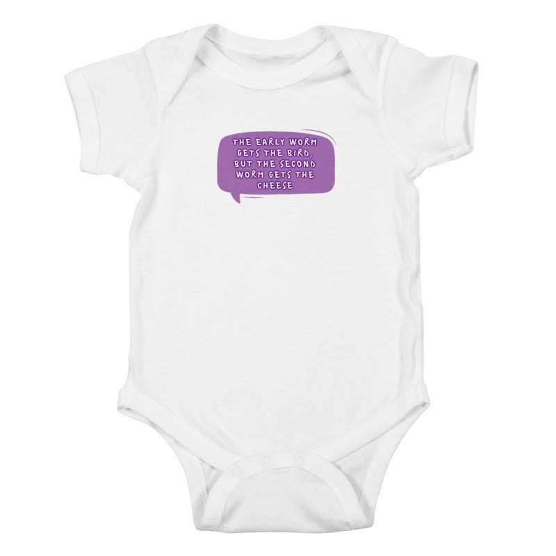 """early worm"" Kids Baby Bodysuit by J. Lavallee's Artist Shop"