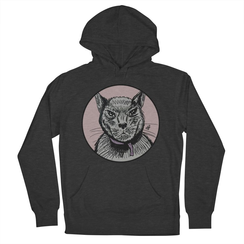 """murder cat"" Women's French Terry Pullover Hoody by J. Lavallee's Artist Shop"