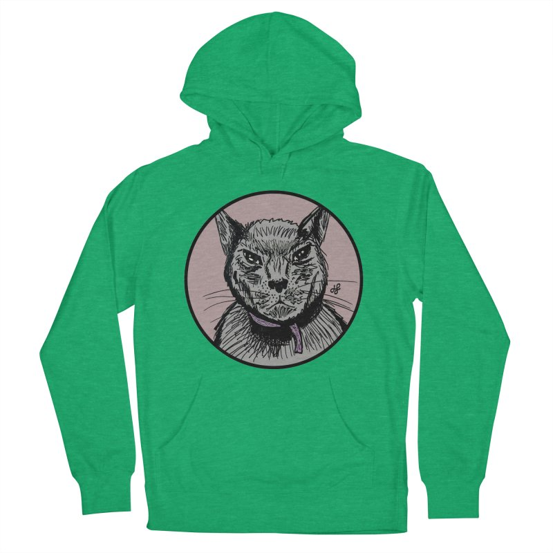 """murder cat"" Men's French Terry Pullover Hoody by J. Lavallee's Artist Shop"