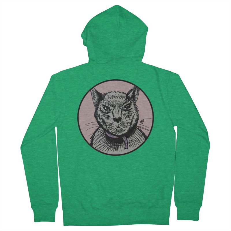 """murder cat"" Women's Zip-Up Hoody by J. Lavallee's Artist Shop"