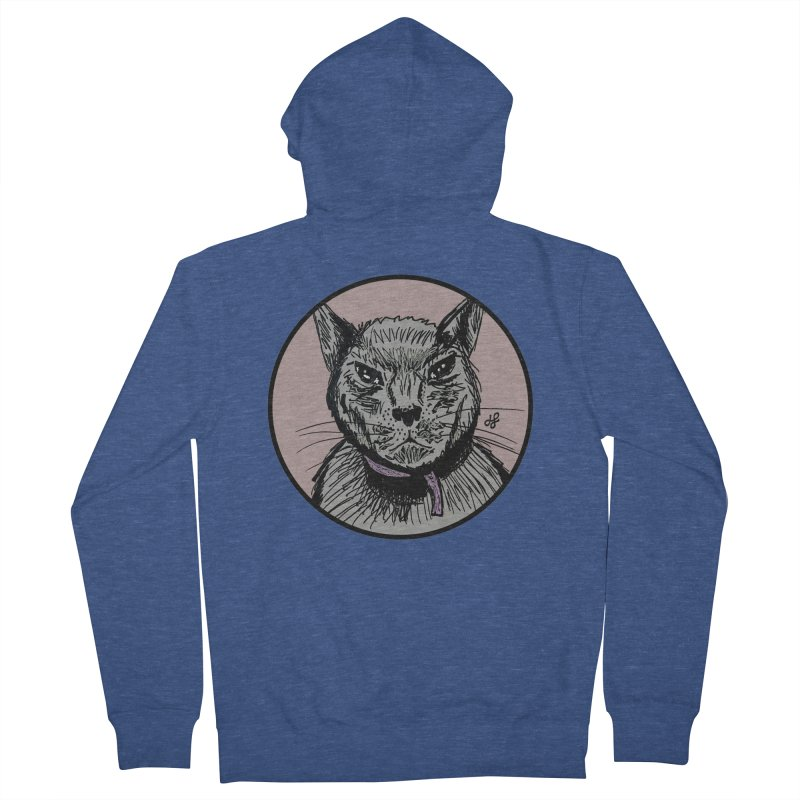 """murder cat"" Women's French Terry Zip-Up Hoody by J. Lavallee's Artist Shop"