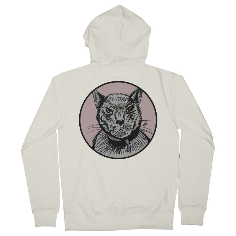 """""""murder cat"""" Women's French Terry Zip-Up Hoody by J. Lavallee's Artist Shop"""