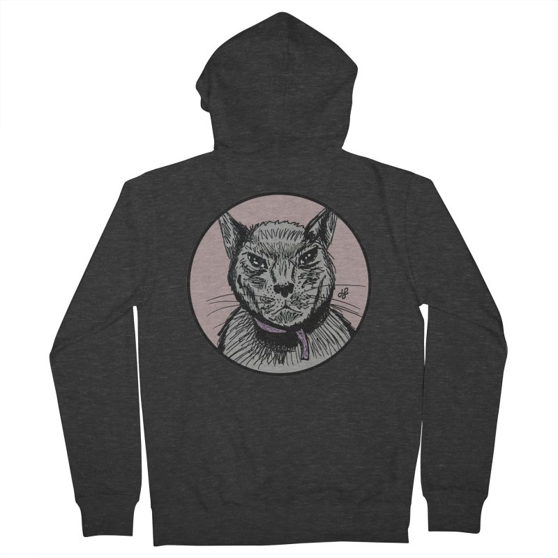 """murder cat"" Men's French Terry Zip-Up Hoody by J. Lavallee's Artist Shop"