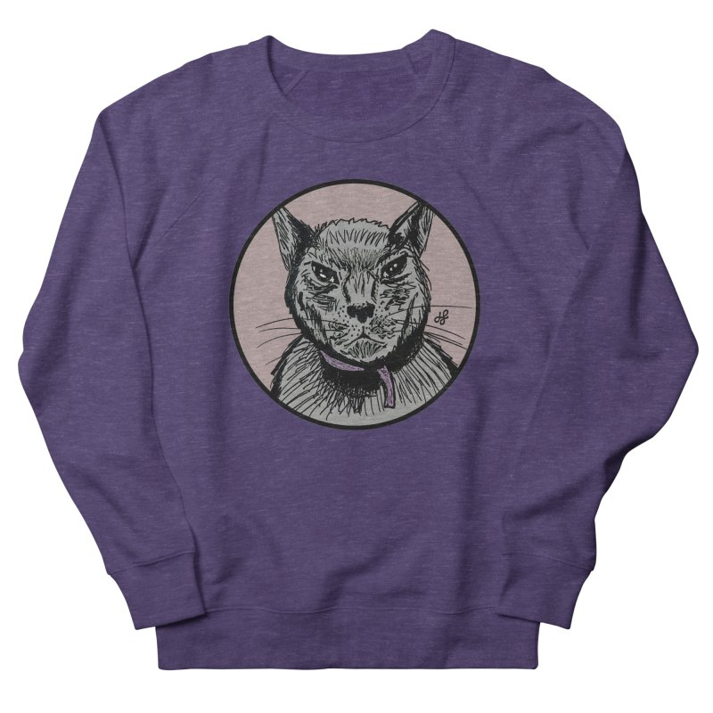 """murder cat"" Men's French Terry Sweatshirt by J. Lavallee's Artist Shop"