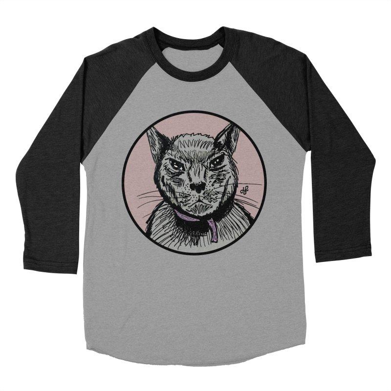 """""""murder cat"""" Women's Baseball Triblend Longsleeve T-Shirt by J. Lavallee's Artist Shop"""